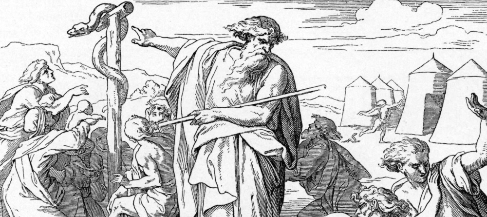 foster_bible_pictures_0079-1_moses_pointing_to_a_great_snake.png